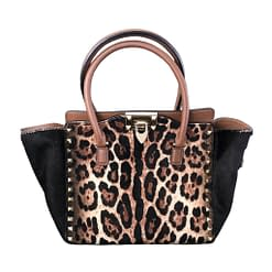 VALENTINO $200 off if minus strap, authentic Rockstud Small Tote leather+pony hair, permanent collection at boutique