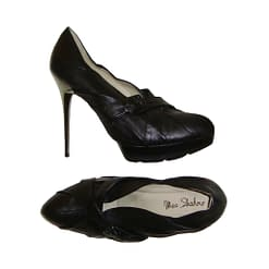 OTHER BRAND MEA SHADOW black leather high heeled shoes size 10M