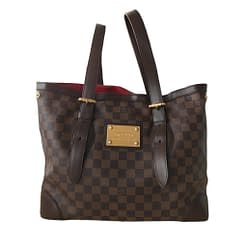 LOUIS VUITTON Authentic Damier Ebene Hampstead Shoulder Tote Bag
