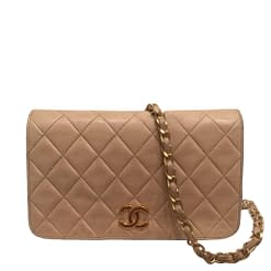 CHANEL Quilted Leather Mini Vintage Flap Bag